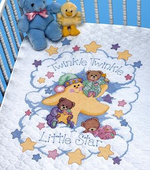 Dimensions Quilt Stamped Cross Stitch Kit Twinkle Twinkle