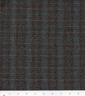 "Fashion Poly Spandex Suiting Fabric 57""-Black and Brown"
