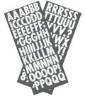 Sticko Futura Regular Glitter Alphabet Stickers-White