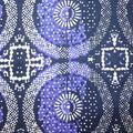 Global Cotton Shirting Fabric-Cosmic Circles on Navy