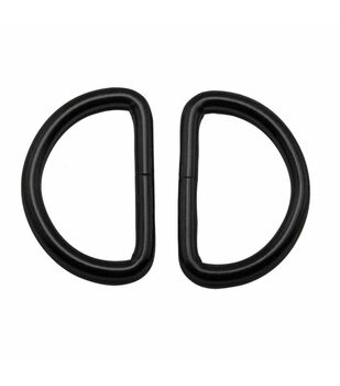 """Everything Mary Black 1.5"""" D-Rings-2pk"""