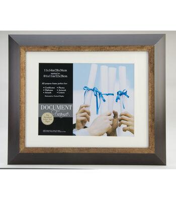 Fairmont Document Frame 11X14-Espresso/Bronze