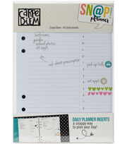 Simple Stories Carpe Diem Snap 156 pk A5 Daily Planner Inserts, , hi-res