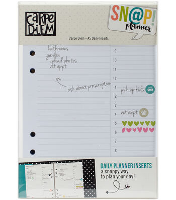Simple Stories Carpe Diem Snap 156 pk A5 Daily Planner Inserts