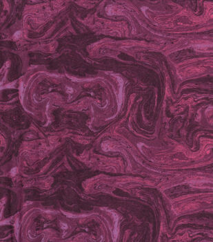 Wide Flannel Fabric-Burgundy Marble