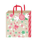 American Crafts Small Gift Bag with Tag-Candy-Kraft