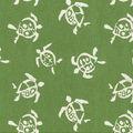 Waverly Upholstery Decor Fabric-Sea Turtles Verte
