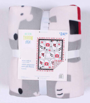 "No Sew Fleece Throw 48""-Polar Bears In Sweaters"