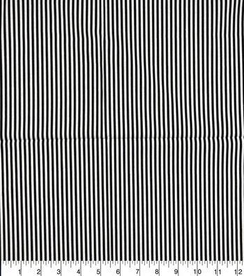 Keepsake Calico Cotton Fabric-Black & White Stripes