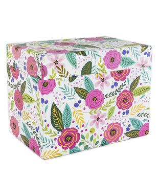 Park Lane Card Storage Box-Floral