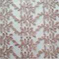 Casa Dahlia Embellished Lace Fabric-Leaves