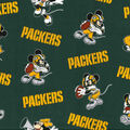 Green Bay Packers Cotton Fabric-Mickey & Minnie Mouses