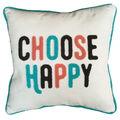 Cotton Slub Pillow 17\u0027\u0027x16\u0027\u0027-Choose Happy