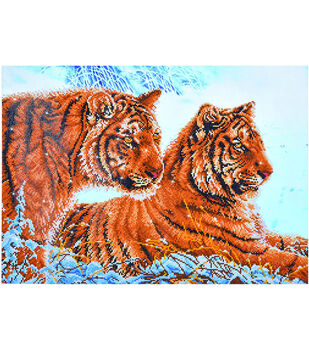 Diamond Dotz Diamond Embroidery Facet Art Kit 31.75''X23.5''-Tigers