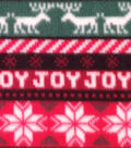 Anti-Pill Fleece Fabric 59\u0022-Red & Green Stripes