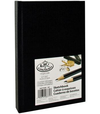 """Royal Langnickel 5.5""""x8.5"""" Black Sketchbook"""