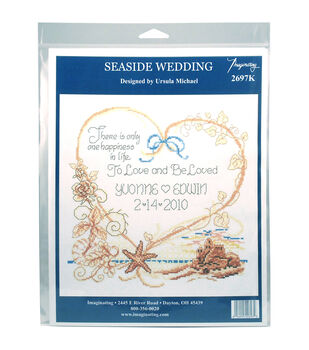 Imaginating Counted Cross Stitch Kit-Seaside Wedding Wedding Record