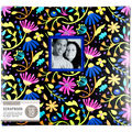 K&Company 12\u0027\u0027x12\u0027\u0027 Scrapbook with Window-Floral on Black