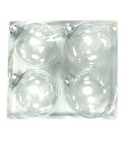 Fab Lab 4pk Clear Ornaments-70mm, , hi-res