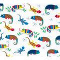 Super Snuggle Flannel Fabric-Multi Colored Reptiles