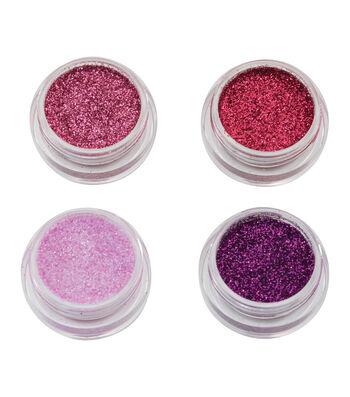 Maker's Halloween Metallic Glitter Makeup Set-Pink & Purple