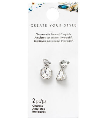 Swarovski Mini Octagon Charms 2/Pkg