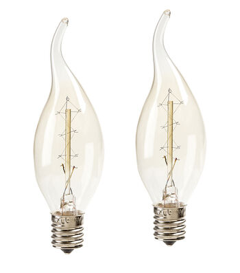 Hudson 43 Edison 2 pk Flame Shaped Candle Lamp Bulbs