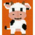 Vervaco iStitch Kits 4 Kids 5\u0027\u0027x6.4\u0027\u0027 Longstitch Kit-Cow