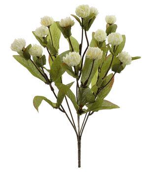 Blooming Autumn 14.5'' Clover Flower Bush-Cream