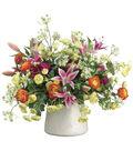 Bloom Room Luxe 22\u0027\u0027 Ranunculus, Lily & Dill In Stoneware