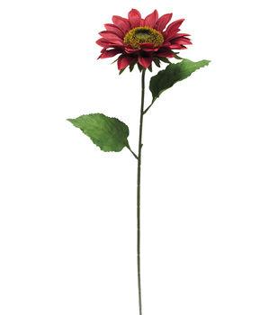 Blooming Autumn 27'' Sunflower Stem-Burgundy