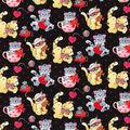 Valentine\u0027s Day Cotton Fabric-Valentine Kittens