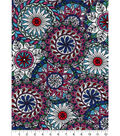 Snuggle Flannel Fabric -Multicolor Sketched Medallion