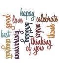 Sizzix Thinlits Dies 13/Pkg By Tim Holtz-Celebration Script Words