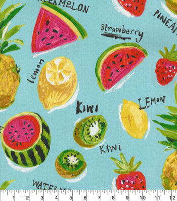 Genevieve Gorder Outdoor Fabric 54''-Fresh Sliced Calypso