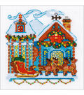 RIOLIS Counted Cross Stitch Kit 6\u0022X6\u0022-Cabin With Sleigh