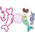 Julie Nutting Stamp & Die Set-Mermaid Kisses Merbaby
