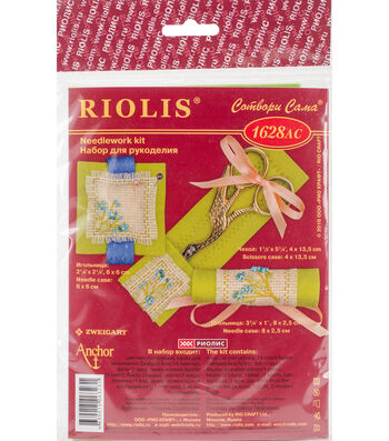 RIOLIS Needlework Kit-Travel Kit-Forget Me Not