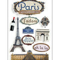 Paper House Travel 3-D Stickers-Paris