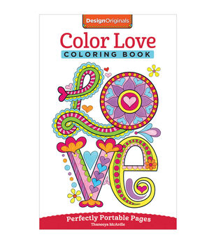 Adult Coloring Book Design Originals Color Love