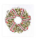 Spellbinders Zenspired Holidays Rubber Cling Stamp-Sentiments Wreath