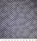 Premium Cotton Fabric-Metallic Dots on Dark Gray