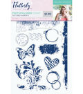 Sara Davies Signature Flutterby 10 pk Clear Stamps-Textured Elements