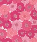 Valori Wells Cotton Fabric-Daisies Raspberry Voile