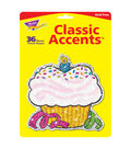 Birthday Cupcakes Sparkle Classic Accents, 24 Per Pack, 6 Packs