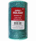 Maker\u0027s Holiday Metallic Decorative Mesh Ribbon 5.5\u0027\u0027x30\u0027-Light Blue