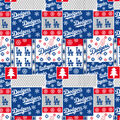 Christmas Los Angeles Dodgers Cotton Fabric-Winter