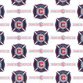 Chicago Fire Cotton Fabric -Logo