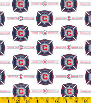Chicago Fire Cotton Fabric -Logo, , hi-res