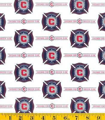 Chicago Fire Cotton Fabric -Logo